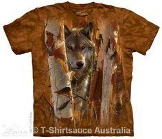 Wolf Drea Men/'s Medium T-Shirt-Noir