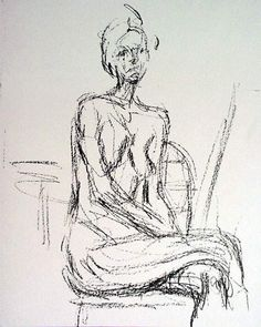 Details about Alberto Giacometti- Derriere Le Miroir-Seated Nude Art