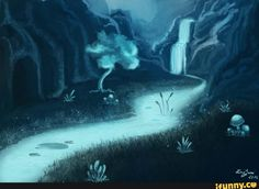 undertale, waterfall