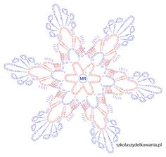Snowflake, Crochet Snowflake, Crochet Snowflake, Crochet School, … - Home Page Crochet Snowflake Pattern, Crochet Stars, Christmas Crochet Patterns, Crochet Snowflakes, Thread Crochet, Crochet Diagram, Filet Crochet, Crochet Motif, Crochet Doilies