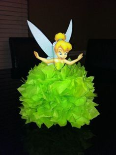 Tinkerbell Centerpiece by TotalParty on Etsy, Tinkerbell Party Theme, Tinkerbell And Friends, Tinkerbell Fairies, Disney Fairies, Tinkerbell Gifts, Tangled Party, Birthday Party Centerpieces, Fairy Birthday Party, Girl Birthday