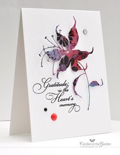 ©Candles in the Garden. RIC83 - Die-cut floral and sentiment from Penny Black