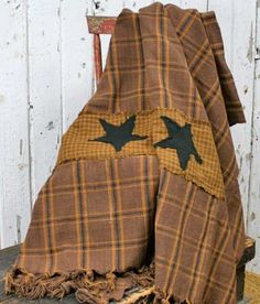 Rustic Primitive Country Appliqued Stars Patchwork Afghan Throw with Rustic Country Charm by Factory Direct Craft, http://www.amazon.com/dp/B00407ISNA/ref=cm_sw_r_pi_dp_xd-lrb0W7BC0B