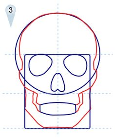 how to draw skulls step 3