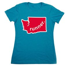 Womens Everyday Runners Tee Washington Runner (Red/White) - Show off your pride for Washington_2 with this great Washington Runner_2 State Tee.