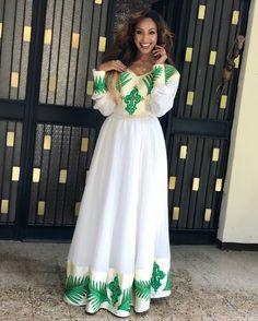 #touchbymarzel👑#getthemarzellook🇪🇹#bigdreamers Happy Easter to all my beautiful people 🇪🇹 @enkuye thanks a lot for making me this amazing dress 🙌🙌🙌I love it #makeupforblackwomen #blackgirlmagic #undiscovered_muas #blackopal #fasika #ethiopa #hudabeauty #anastasiabeverlyhills #makeupforever Ethiopian Traditional Dress, African Traditional Dresses, Traditional Outfits, Ethiopian Wedding Dress, Ethiopian Dress, Beautiful Dresses, Nice Dresses, Summer Dresses, Ankara Gowns