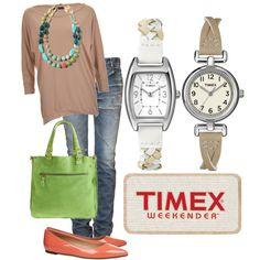 Timex Weekender, created by lauren-elisabeth-stamps on Polyvore