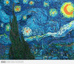 Starry Night in Jelly Beans