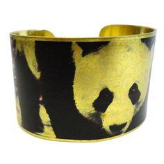 Panda Cuff Bracelet Brass