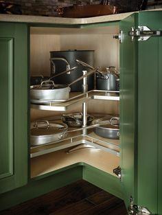 Corner Kitchen Cabinet Super Susan Storage Solution | One day ...