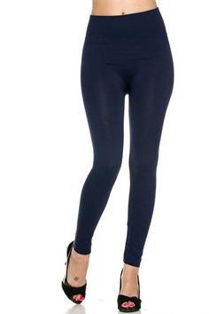 High-Waist Fleece-Lined Leggings (4 Colors Available)