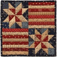 Patriotic Quilt @ rogue quilter: AAQI Quilts Available now! Diy Quilt, Flag Quilt, Patriotic Quilts, Star Quilts, Mini Quilts, Quilt Blocks, Quilting Projects, Quilting Designs, Quilt Design