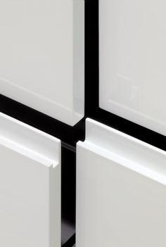 mk cucine Storage Shelves, Shelving, Joinery Details, Finger Pull, Floor Ceiling, Cabinet Furniture, Apartment Interior, Windows And Doors, Kitchen Design