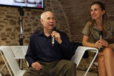 Steve McCurry with Elisabetta Federici #McCurry #SensationalUmbria #SU14 #Perugia #mostra #Fotografia #Photography #exhibition #Umbria