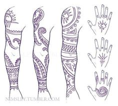 Cecil's tattoos. Welcome to Night Vale << The second one is my favorite, but they're all beautiful.