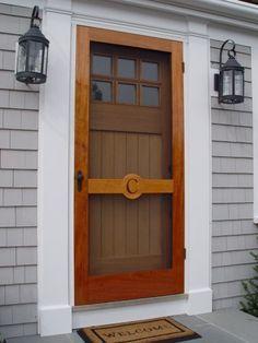Fun Coastal Door With Initial!
