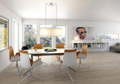 Lindos er en funkisinspirert bolig med industrielt preg over tre etasjeplan.