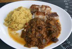 recette Saumonette grillée (ou roussette) aux légumes provençales