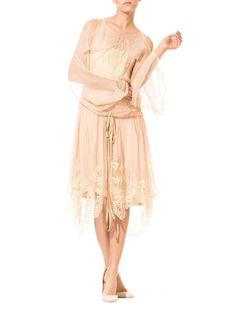 1920s Callot Soeurs Inspired Mousilline And Chantilly Lace Dress