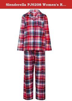 Ladies//Womens Button Front Cotton Check Pyjamas Pyjama PJ Set Size 10-18 NEW