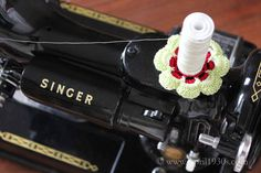 Spool Pin Doily for the Singer Featherweight 221 or 222K Spool Pin Coverplate