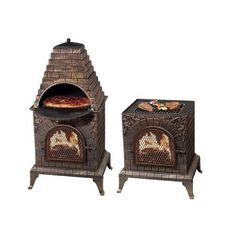 WOOD FIRED PIZZA OVEN OUTDOOR BBQ BARBECUE GRILL PATIO DECK COOKING CHIMINEA