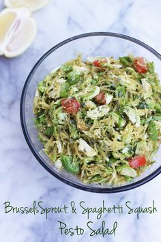 Soap Queen Cuisine: Brussels Sprout & Spaghetti Squash Pesto Salad