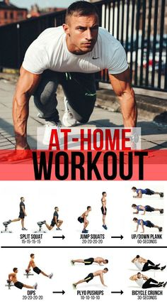 10 Minute Home Bodyweight Abs Crusher Workout Exercising at home is, hopefully, something you've Home Exercise Routines, Ab Workout At Home, At Home Gym, At Home Workouts, Split Squat Jumps, Weight Training Workouts, Gym Workouts, Workout Abs, Workout Exercises