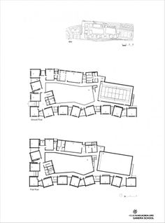 Image 22 of 25 from gallery of Gandra School / CNLL. Architecture Concept Drawings, Architecture Board, School Architecture, School Building Design, School Design, Primary School, Elementary Schools, Masterplan, Museum Plan