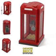 LEGO Telephone Box - Red Phone Booth - British Phone Box for City/Town - NEW