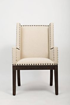 Pacific Heights Dark Coffee Solid Wood Highback Upholstered Side Chair