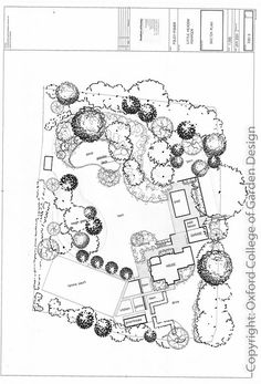 Country garden Plan with tennis court, swimming pool, large natural pond, formal terrace and sweeping lawns Garden Design Plans, Modern Landscape Design, Landscape Architecture Design, Garden Landscape Design, Landscape Sketch, Landscape Drawings, Landscape Plans, Layout Design, Design Ideas