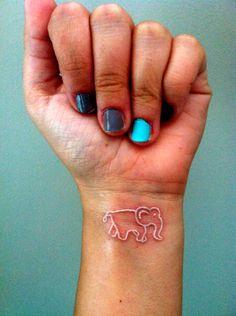 elephant tattoo | Tumblr Wrist Tattoos For Guys, Small Tattoos For Guys, Small Wrist Tattoos, Elephant Tattoo Meaning, Elephant Tattoos, Animal Tattoos, Bug Tattoo, Get A Tattoo, Tattoo Side
