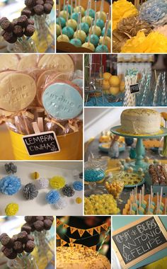 Yellow and blue baby shower
