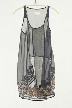 Black Embroidered Layer Top