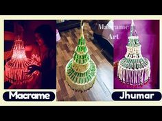 DIY simple macrame Jhumar Macrame Kandil Design | Diwali Special - YouTube