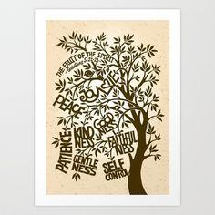 The Fruit of the Spirit Art Print by Liyin - $17.50