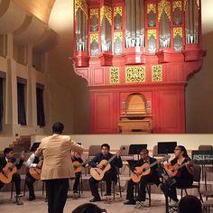 #Herrera Panther Guitarra Ensemble obtienen  de 100 en  el festival de guitarra @ ASU School of Music @ the Organ Hall @phxschools