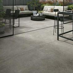 A new concrete-effect porcelain tile from Italy. A new concrete-effect porcelain tile from Italy. Concrete Look Tile, Smooth Concrete, Concrete Floors, Plywood Floors, Concrete Lamp, Cement Tiles, Stained Concrete, Concrete Countertops, Wood Flooring
