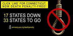 Well done Connecticut! 17 US states are now death penalty free.