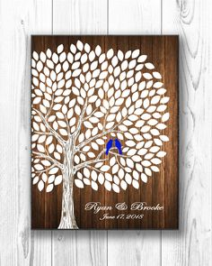 A personal favorite from my Etsy shop https://www.etsy.com/listing/587879697/wedding-guest-book-alternative-rustic