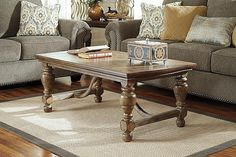 Light Brown Tanshire Coffee Table View 1