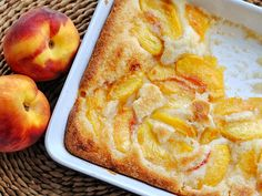Peach Cobbler 1 stick tablespoons) butter 1 cups all-purpose flour 1 cups sugar, plus 2 tablespoons 2 teaspoons baking powder teaspoon salt 1 cups milk 1 teaspoon almond extract, divided 2 pounds peaches, peeled and sliced (about 4 cups) Just Desserts, Delicious Desserts, Dessert Recipes, Yummy Food, Dessert Healthy, Yummy Treats, Sweet Treats, Do It Yourself Food, Naan