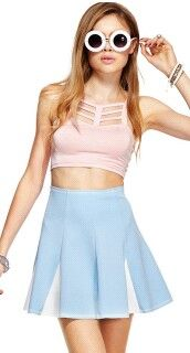 pastel pink cutout croptop  #romwe #romwebeyondthecolor #beyondthecolor #romwe beyond the color #beyond the color