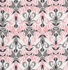 1 Yard Quilt Fabric Calypso Swing Pink Grey Geometric Art Dec Fabric | auntiechrisquiltfabric - Craft Supplies on ArtFir