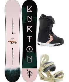 Burton Yeasayer Flying V/BOA Snowboard Package - Womens