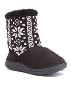 Black Snowflake Boot