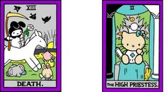 Hello Kitty tarot.  So cute....now if I could just get Disney or Wizard of Oz I would be in heaven!!