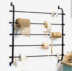 Vintage Inspired Bedroom, Magazine Storage, Craft Storage, Paper Storage, Storage Organization, Ribbon Wrap, Wall Racks, Antique Farmhouse, Wraps