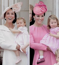"""""""Mum & Me ♡ - Catherine and Charlotte at Trooping the Colour   2016, 2017 """""""